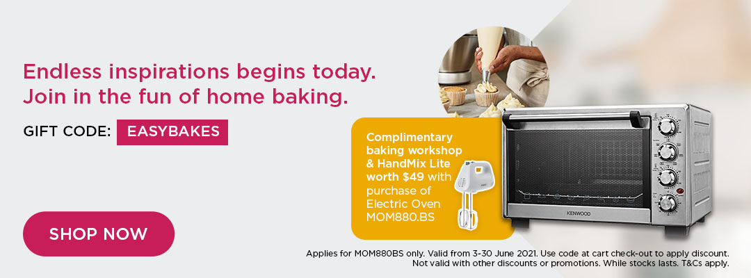 Kenwood Mid Year Special - $40 Off Prospero+ Compact 4.3L KHC29.J0SI + Complimentary Online Baking Class