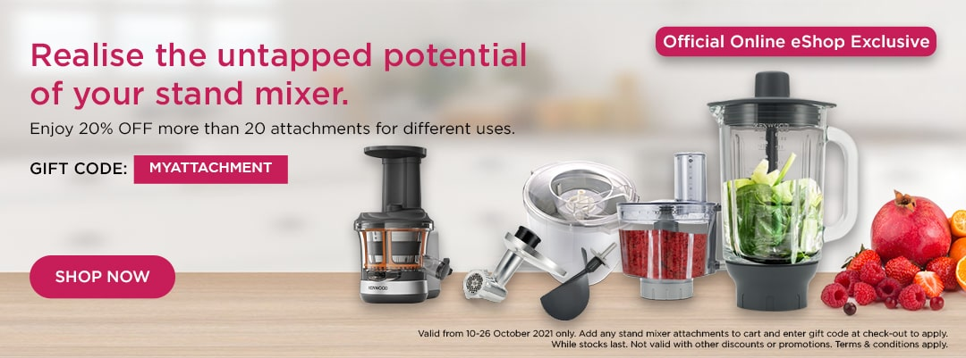 Kenwood World Pasta Day Special - Enjoy 20% off stand mixer attachments