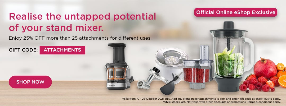 Kenwood World Pasta Day Special - Enjoy 25% off stand mixer attachments